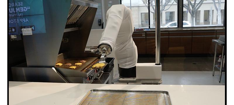 还记得那个一天做300个汉堡的汉堡机器人Flippy吗?它又重回CaliBurger餐厅了