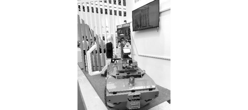 连云港安博会上来了不少安保神器 无人车能巡防会救火