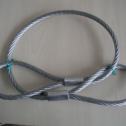 钢丝绳吊索具 插编钢绳扣 压制绳套 无接头钢丝绳圈 浇铸索具