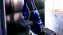 喷漆机器人 喷涂机械手视频案例 六轴喷漆喷油机械手应用