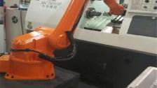 上下料机器人视频 机床配套机械手 搬运机器人机械臂视频案例