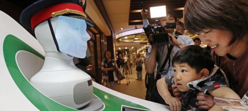 日本JR东京站开展AI机器人实证测试 德国铁路参与