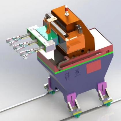 轴承锻造送料小连杆机器人_科亚自动化