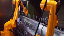 喷涂机器人视频 喷漆喷粉机械手视频