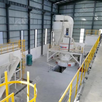 河南轻烧白云石灰粉生产线大型矿石粉体雷蒙磨粉机