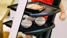 欢乐送送餐机器人无轨道机器人