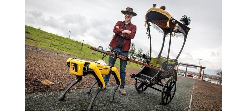 机器人也不容易,波士顿动力Spot被改造成电动车夫