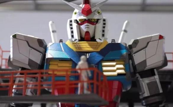 """日本横滨建造""""最大机器人"""",高达18米,高大威武,建造难度巨大"""