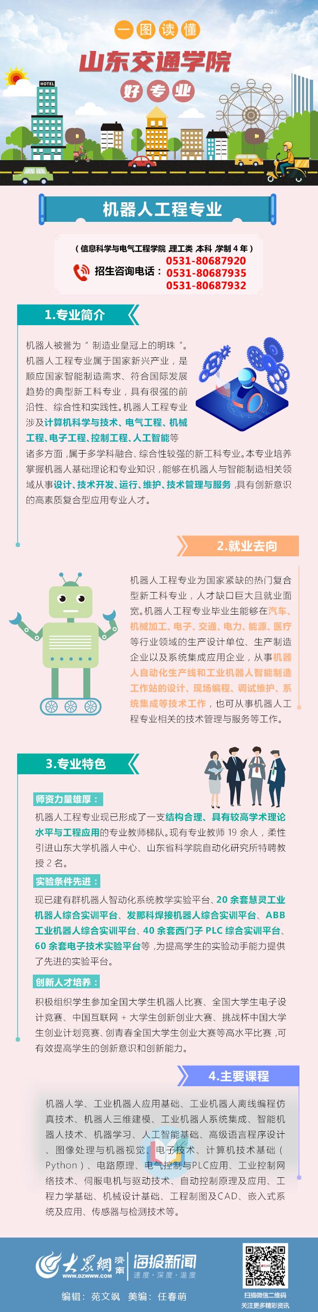 """《【沐鸣2娱乐代理注册】""""山东交通学院一图看懂好专业""""——机器人工程专业》"""