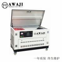 全自动25KW汽油多燃料水冷静音发电机图片