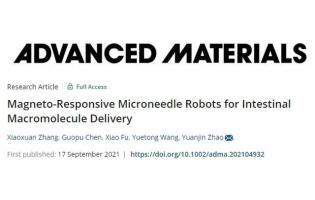 开启口服给药新篇章!南京大学赵远锦《AM》:磁响应微针机器人,可口服递送大分子药物